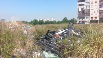 i rifiuti nel cantiere